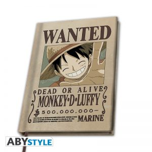Cahier A5 Wanted Luffy