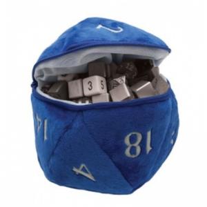 Bourse à Dés - D20 - Bleue