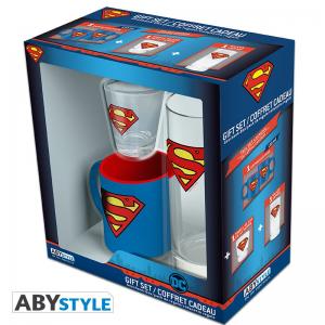 DC COMICS - Pck Verre 29cl + Shooter + Mini Mug Superman